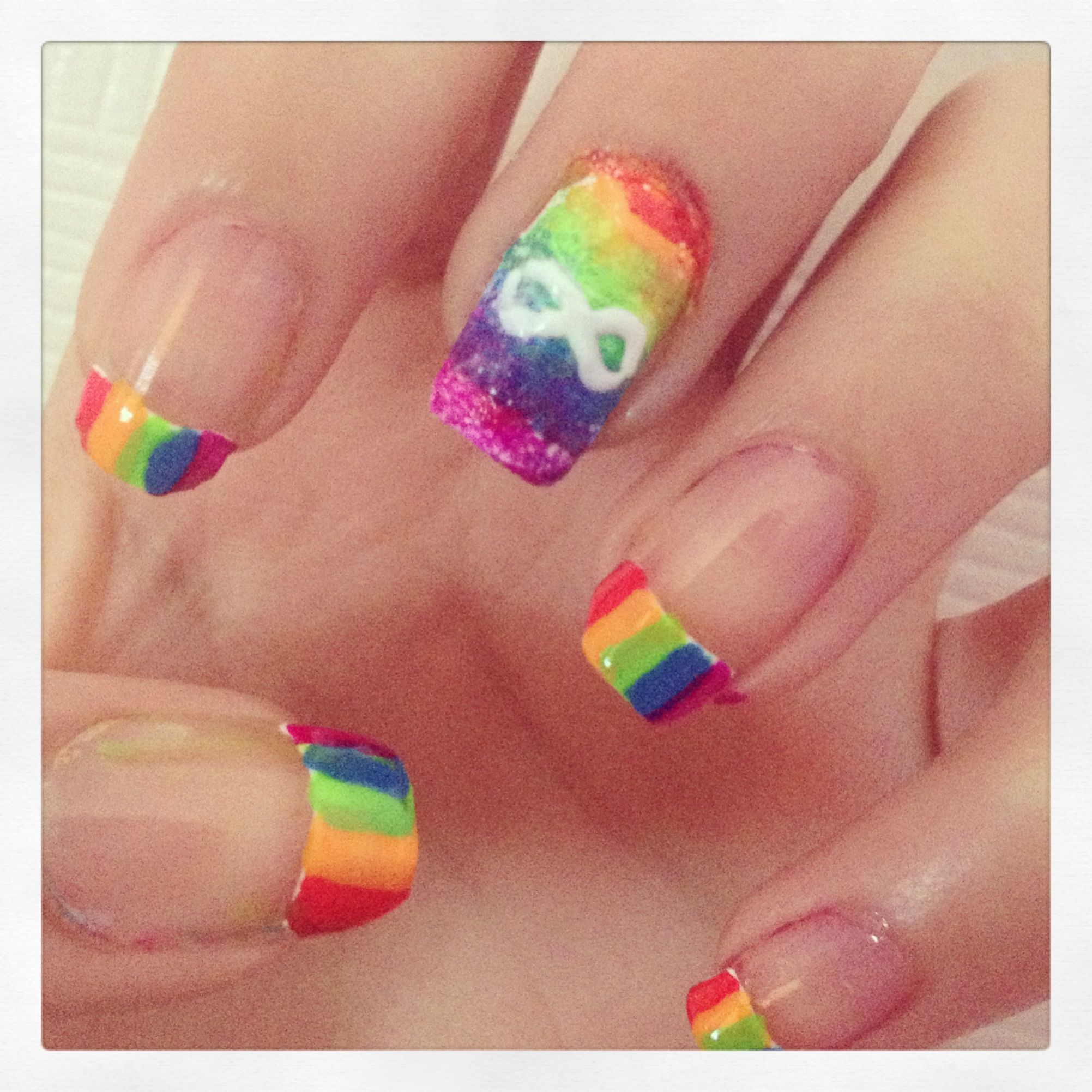 ∞Infinity nails∞ | My nail designs | Pinterest | Infinity nails ...