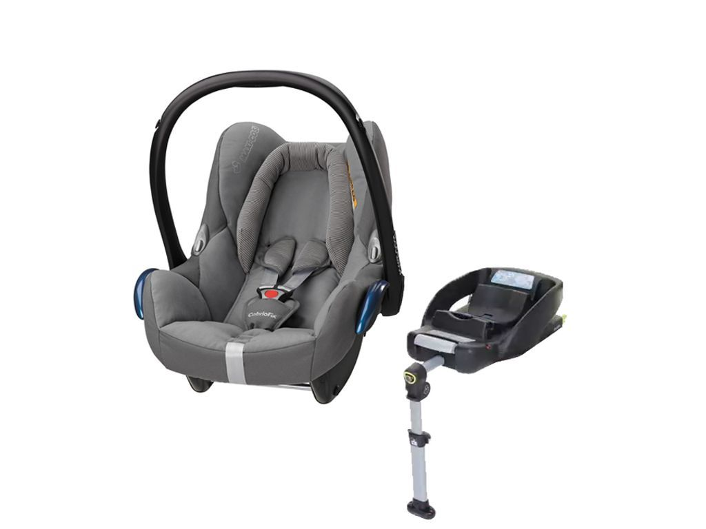 Maxi Cosi Cabriofix Group 0 Plus Car Seat In Concrete Grey With Easyfix Isofix Base Car Seats Baby Car Seats Maxi Cosi