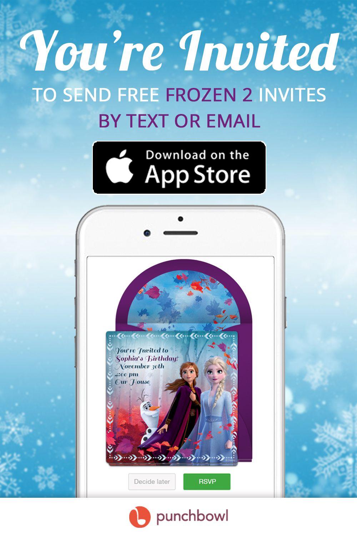 Send Free Frozen 2 Invitations Invitations, Invitation