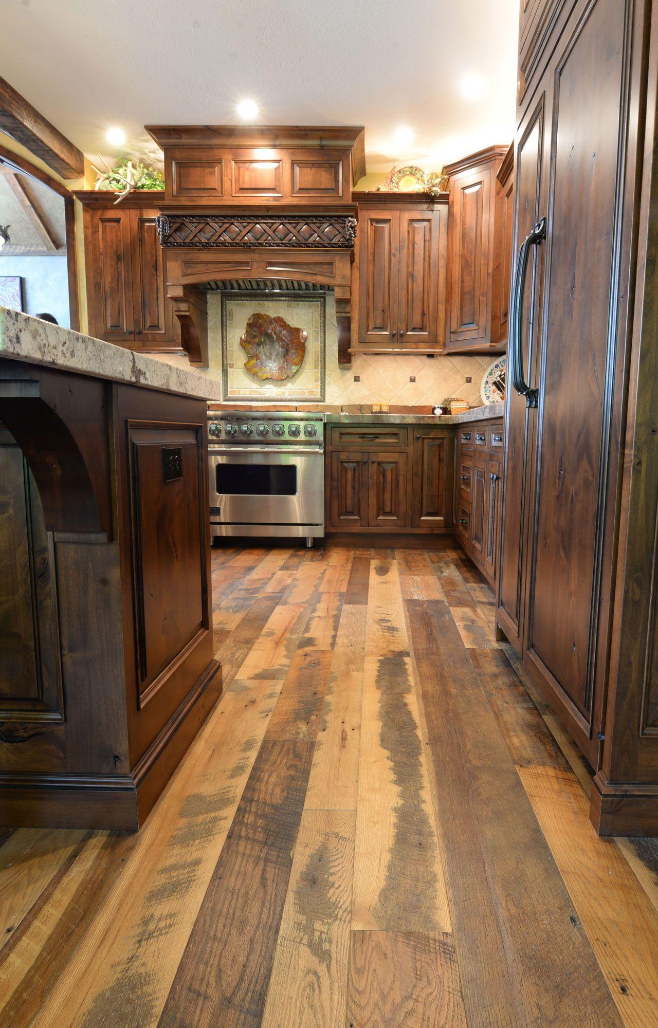 Wide Plank Reclaimed Wood Floors   Wood floors wide plank, Rustic ...