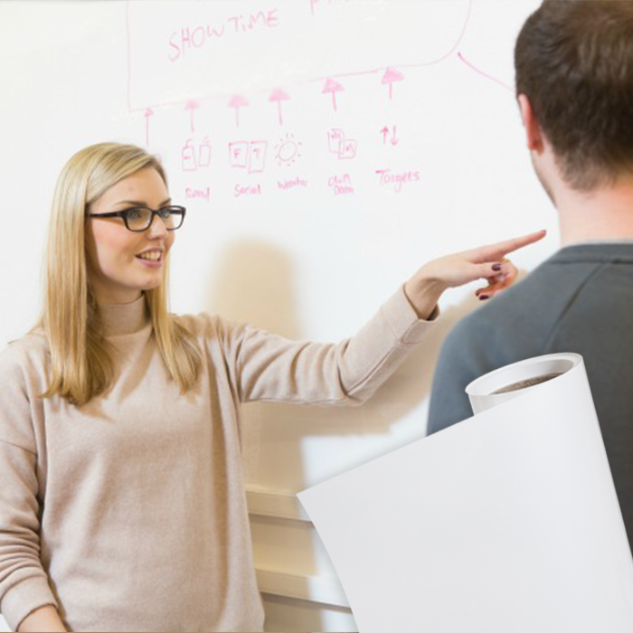 Turn Any Surface Into A Collaborative Writable Surface Using Smart Whiteboard Wallpaper Use Just Like Any Othe White Board Magnetic White Board Wall Coverings