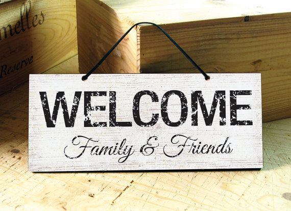 Welcome Sign Decor Adorable Wall Sign In Black & Whitewelcome Signdoor Signmodern Inspiration