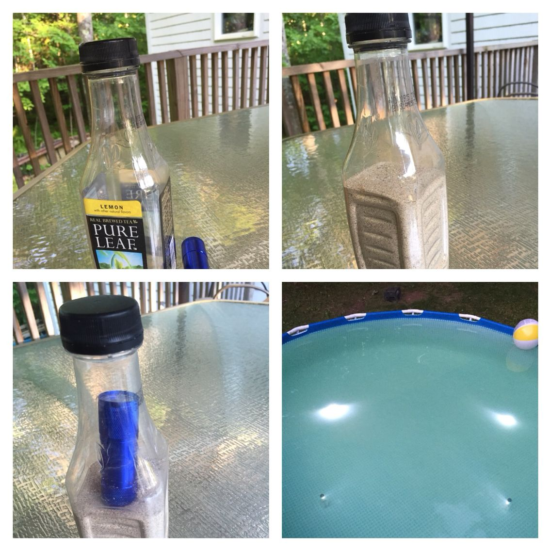 Diy Underwater Pool Lights Dollar Store Led Flashlight Wide Mouth Bottle Sand Or Other Weight To Diy Swimming Pool Underwater Pool Light Swimming Pools