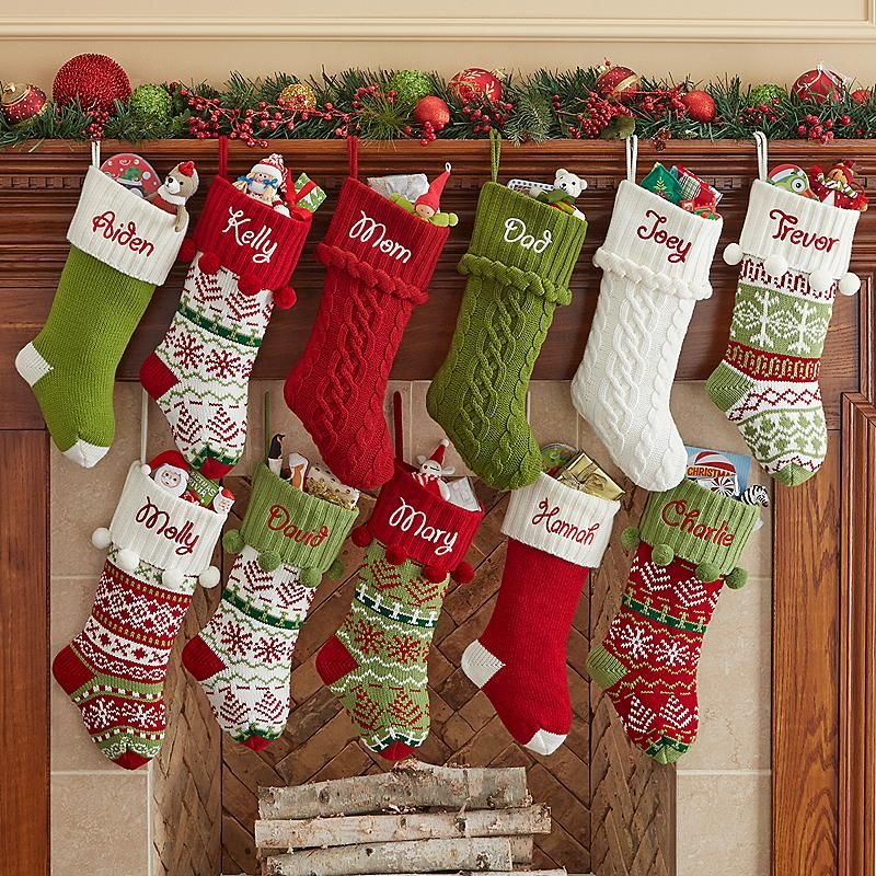 f3f5be168f7 Hang this charming Personalized Knit Snowflake Stocking by the fireplace.  Personalized Knit Snowflake