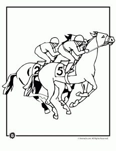 Horse Racing Coloring Page Kentucky Derby Party Kentucky Derby Kentucky Derby Theme
