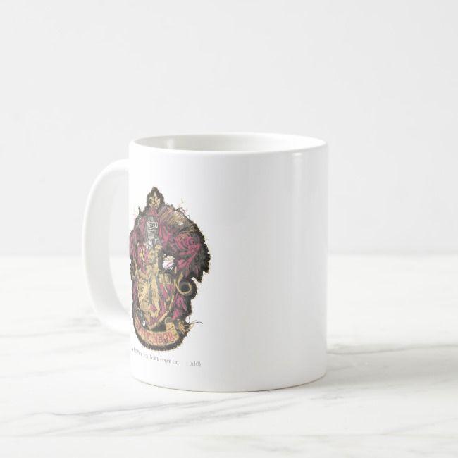 Harry Potter | Gryffindor Crest - Destroyed Coffee Mug | Zazzle.com #disneycoffeemugs