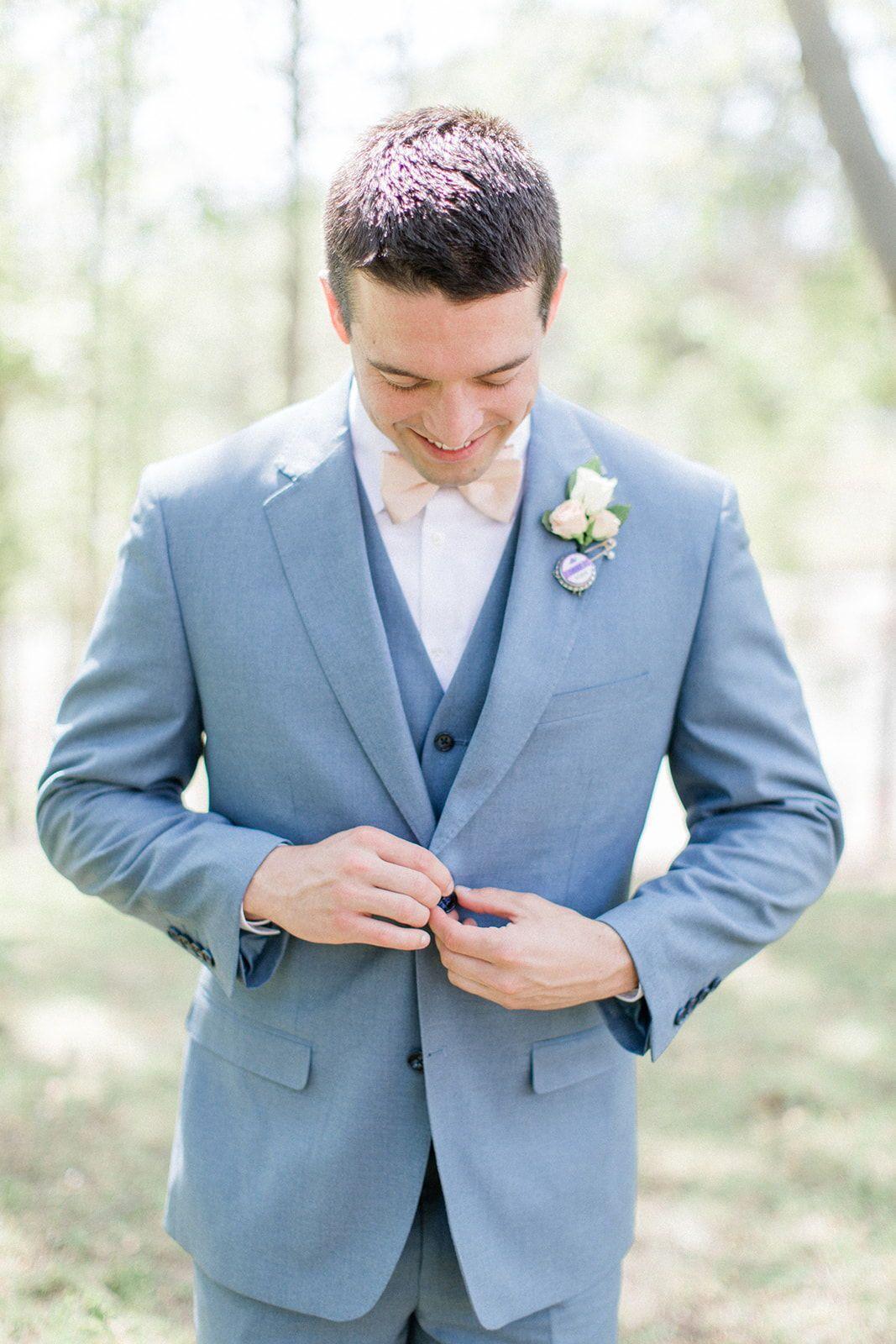 45+ Pale blue suit wedding ideas