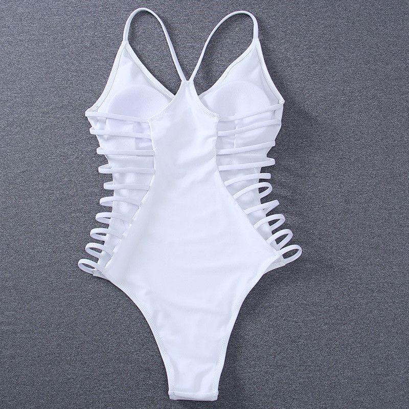 6e48fe47a5 Sexy Fashion Solid Color Halter Hollow Out Bikini Set Swimsuit Swimwear
