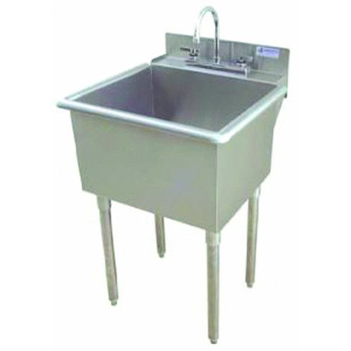 Found It At Wayfair 24 X 24 Single Utility Sink With Drain Faucet Utility Sink Stainless Steel Utility Sink Laundry Sink