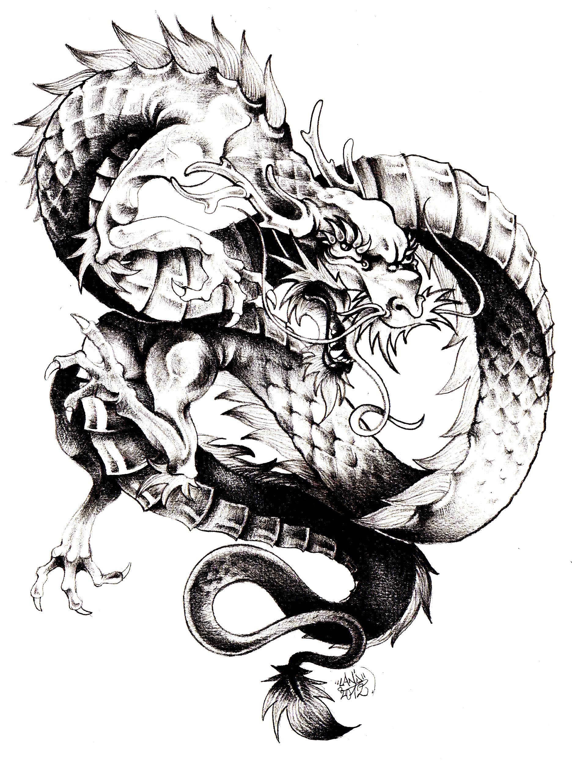 Magnifique dragon chinois imprimer et colorier dans la galerie chine asie coloriage - Dragon japonais dessin ...
