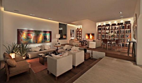 21 id es d co salon aux couleurs et mat riels naturels bois - Idee deco salon beige ...