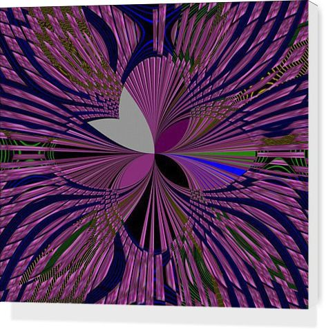 #Purple Flower by Lataarv - Stretched Canvases - $80.00
