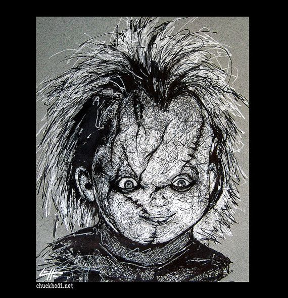 Print 8x10 Chucky Childs Play Horror Monster by chuckhodi ...