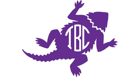 Tcu Horned Frog Circle Monogram Decal By Tiacheriedesigns