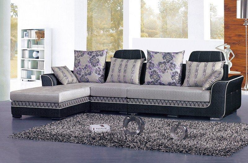 Morden Fabric L Shape Sofa Corner Sofa Colorful Sofa Factory