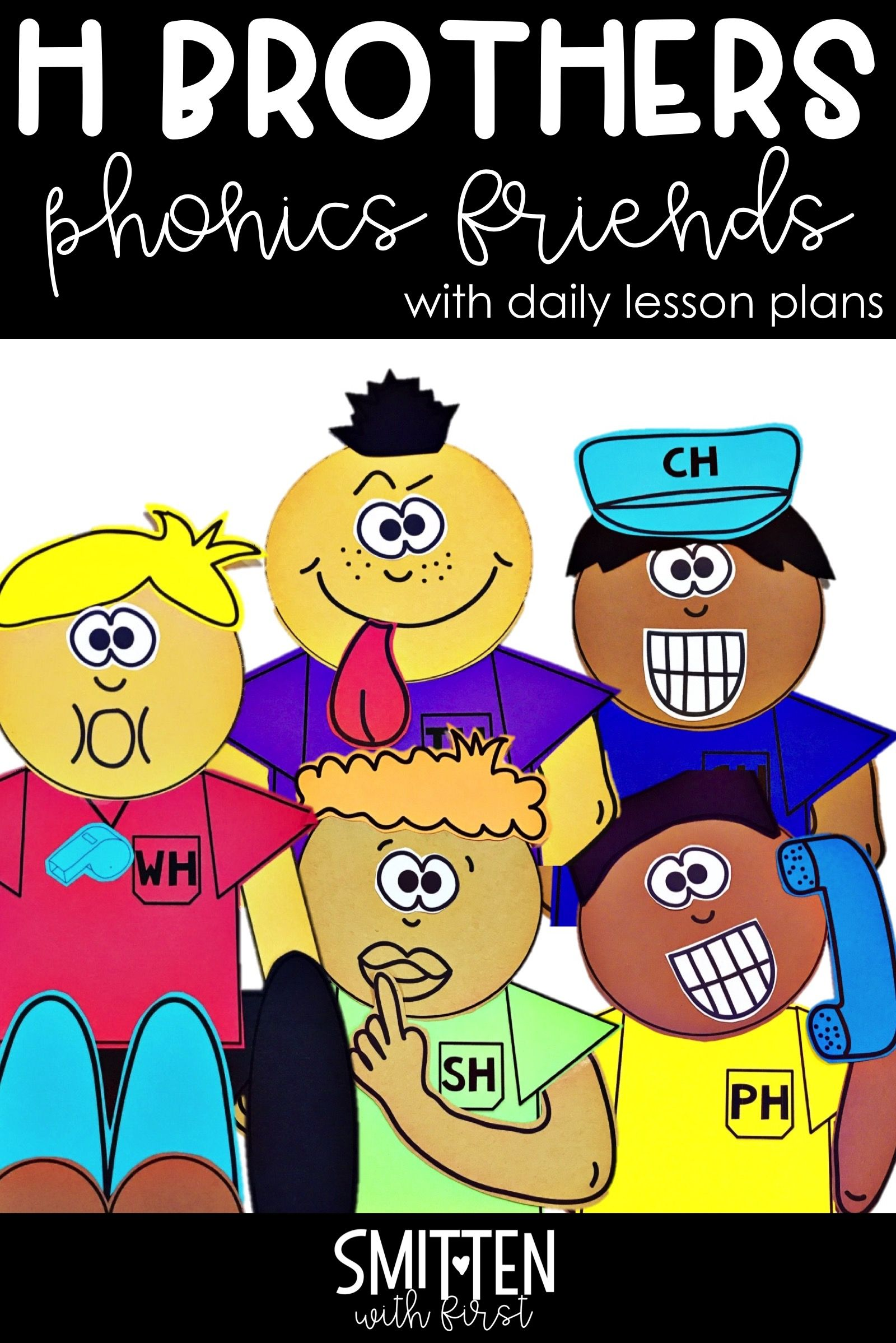 H Digraphs Wh Sh Ch Th Ph H Digraph Brothers Phonics Friends