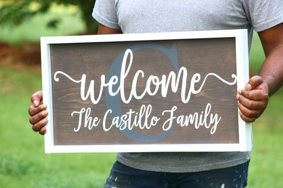 Family Name Sign - Welcome Sign - Welcome Sign for Family - Family Welcome Sign - Family Coordinates Sign - Wood Welcome Sign - Family Sign #weddingwelcomesign