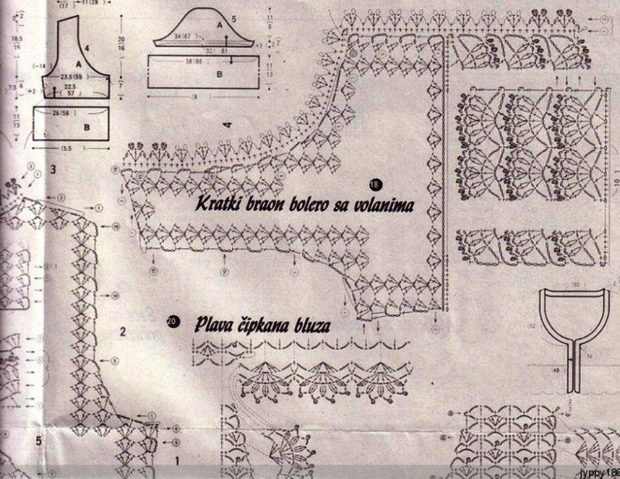 crochelinhasagulhas: Bolero marrom de crochê