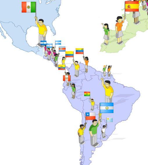 Maps Quiz- Spanish speaking countries | Gratuito ELE worksheets ...