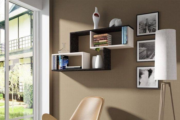 Интересный дизайн настенных полок + фото | Декор настенных ...
