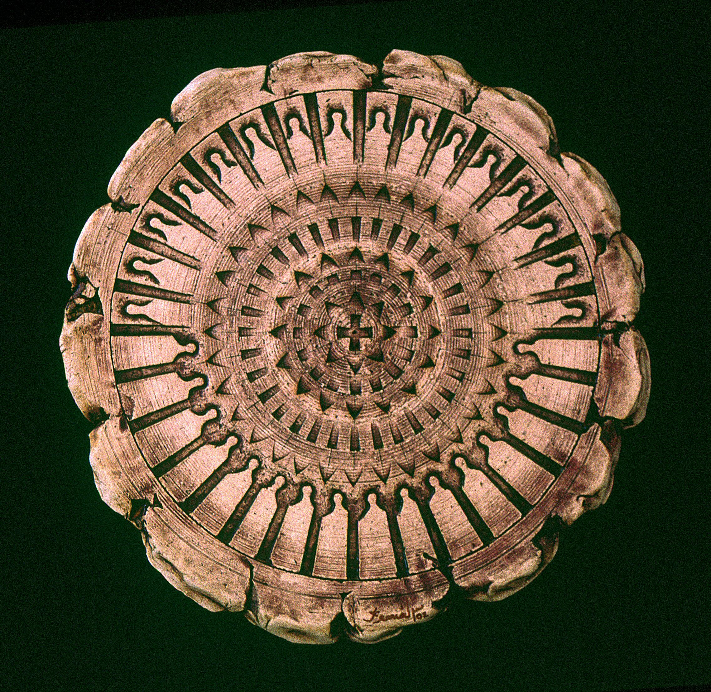 Kemal ULUDAĞ, 2002, Sacred Direction - Kutsal Yönelim, Ø 35 cm. Stoneware-1200 °C