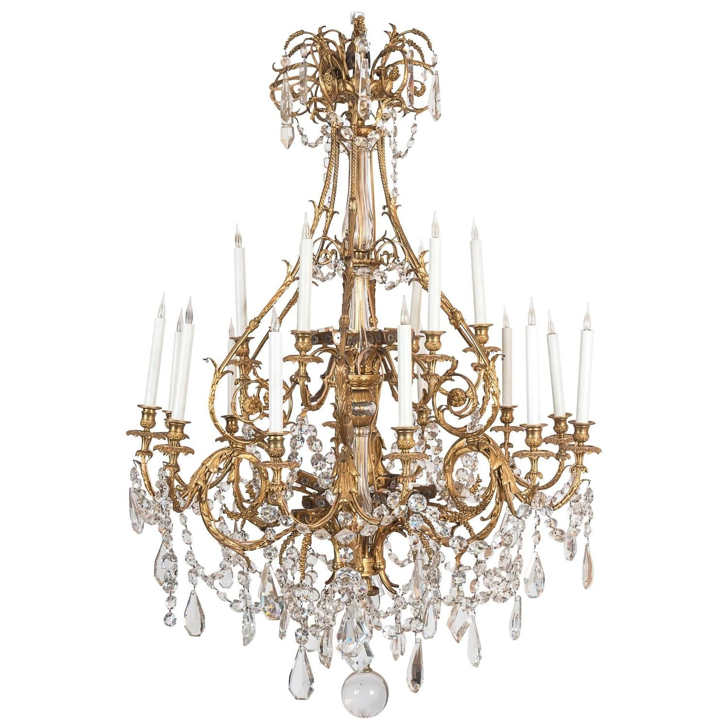 Crystal chandelier bagues from a unique collection of antique and