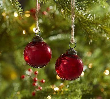 Mercury Balls Decorations Red Mercury Glass Ball Ornaments Set Of 12  Mercury Glass