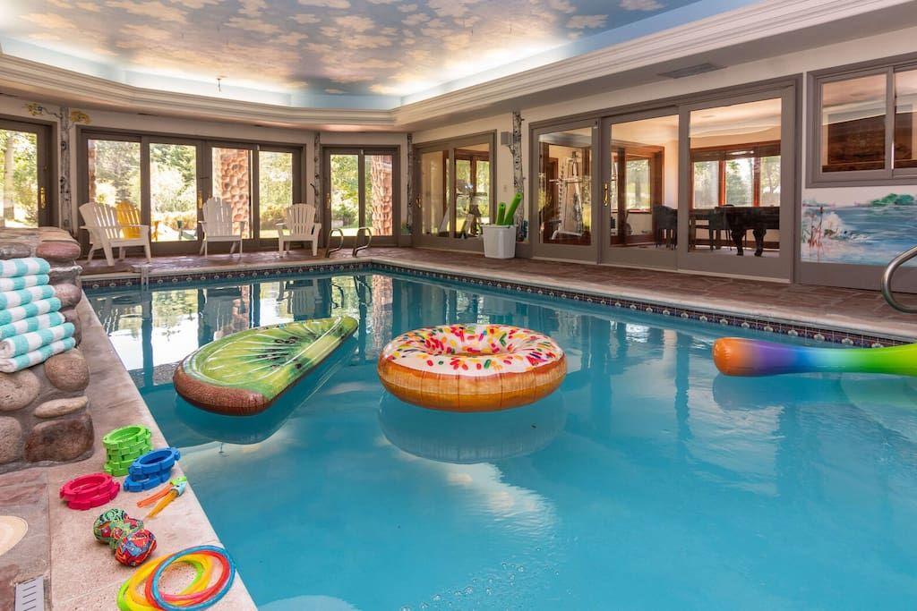 Majestic Vista Chalet Huge Views Private Indoor Pool Sleeps 20 Houses For Rent In Steamboat Springs Colorado Indoor Pool Pool Hot Tub Pools Vacation