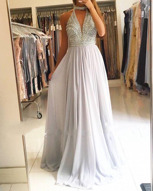 Elegante Abendkleider Lang Chiffon Abiballkleider ...
