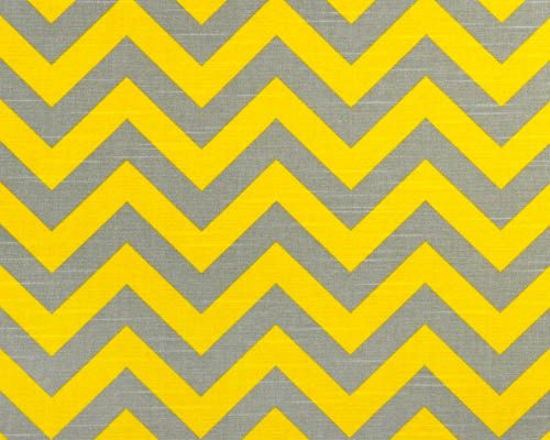 Chevron Fabric Yellow Grey By The Yard Premier Prints Zigzag Ash Corn Slub Cotton Home Decor 1 Or More Ships Fast Via Etsy