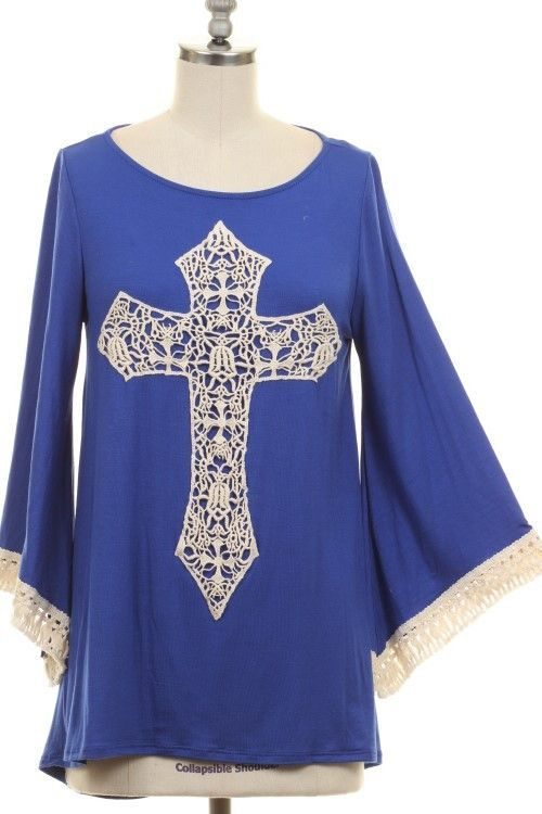 Cross to My Heart Tunic - Royal Blue