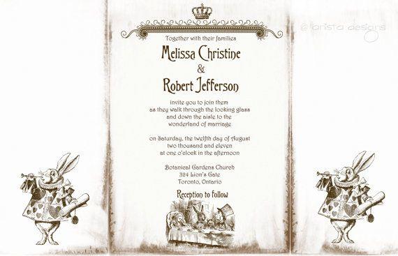 Alice in wonderland wedding invitation sample by anistadesigns alice in wonderland wedding invitation sample by anistadesigns 600 stopboris Choice Image
