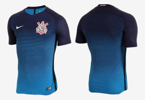 d54daff46f Terceira camisa do Corinthians 2016-2017 Nike Azul kit