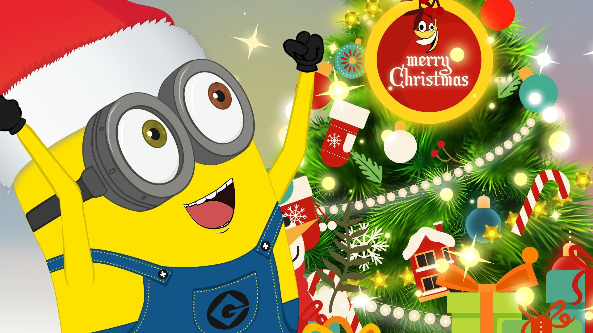 download free minions christmas wallpapers for your mobile phone hd wallpapers pinterest christmas merry christmas and merry - Minion Christmas Wallpaper
