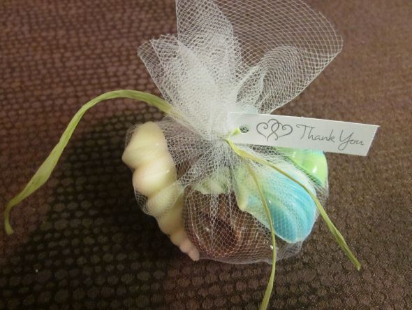 DIY Seashell Candy Favors Wedding Beach Blue Diy Green Candies Teal Done1
