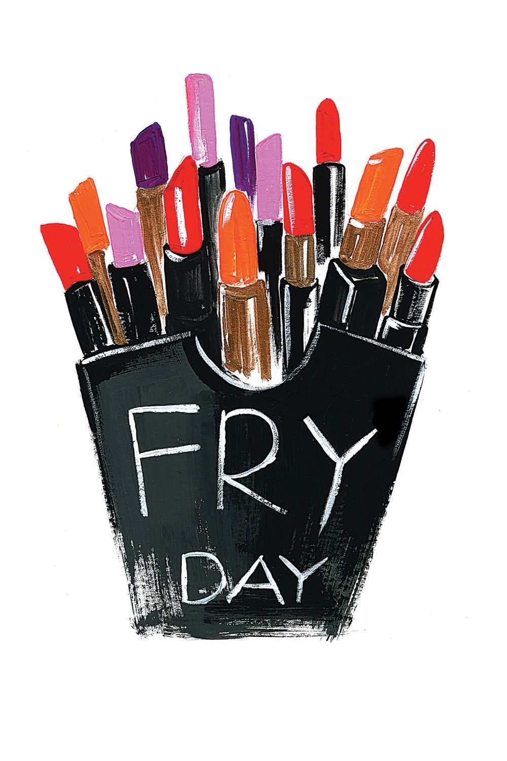 'Fryday' by Rongrong DeVoe Fashion illustration print