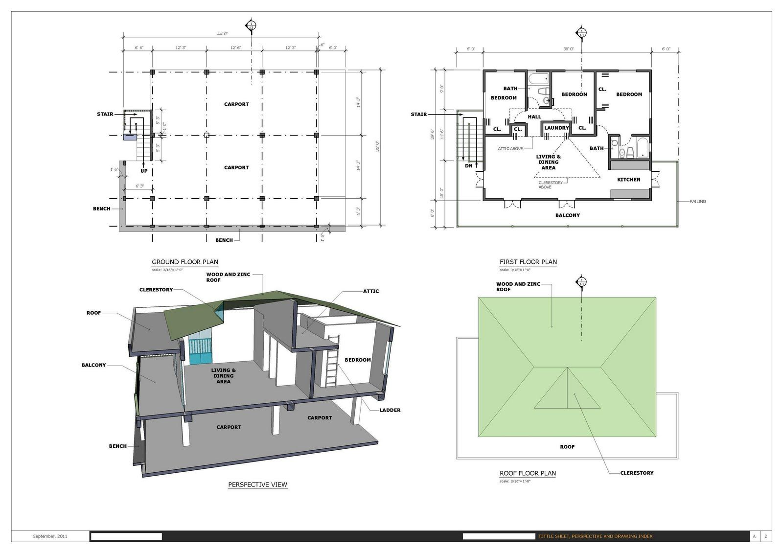 Sheet created in sketchup along with the layout app - House plan drawing apps ...