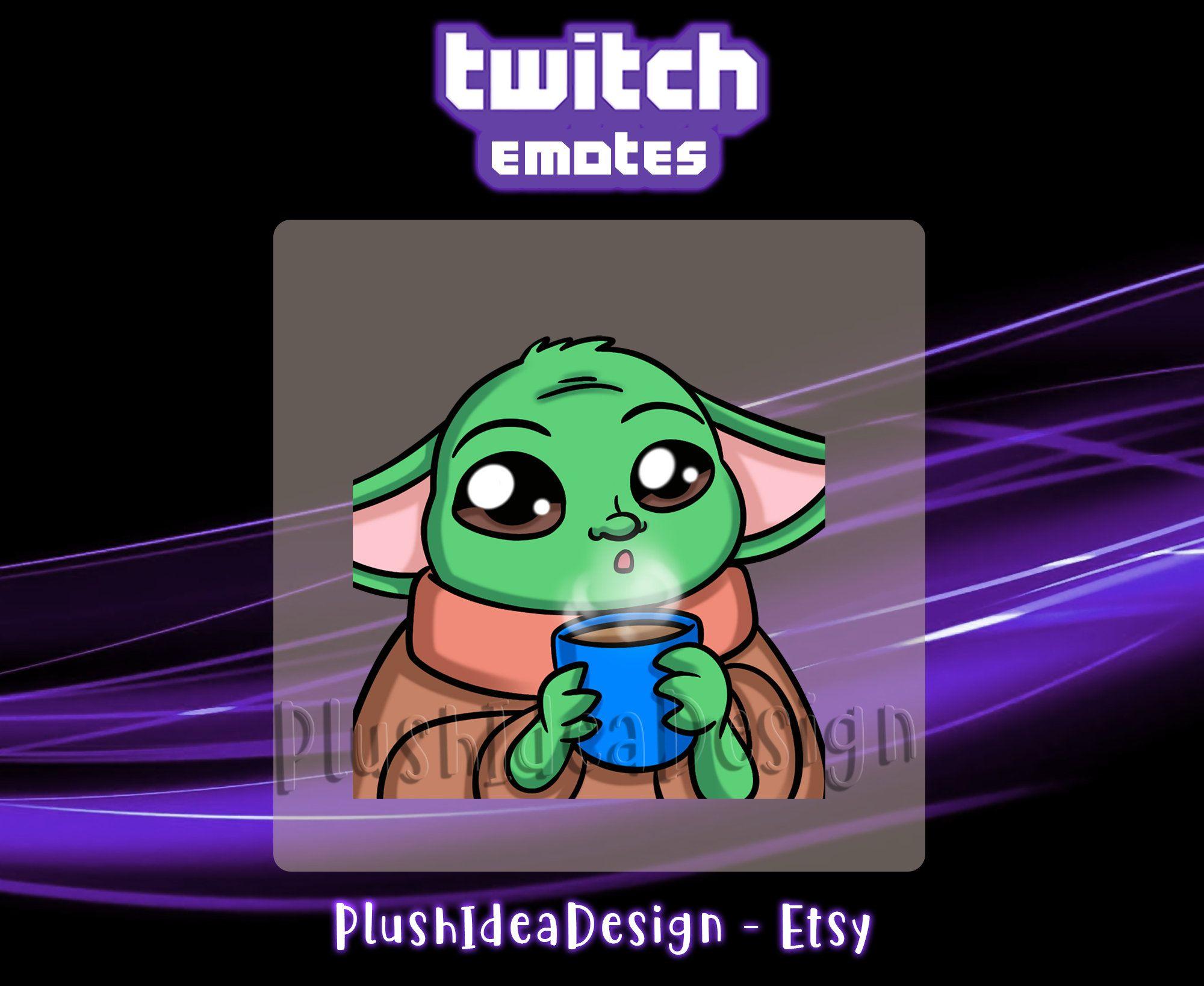 Cute Baby Yoda Sip Cup Twitch Star Wars Sub Emote Twitch Yoda Star Wars