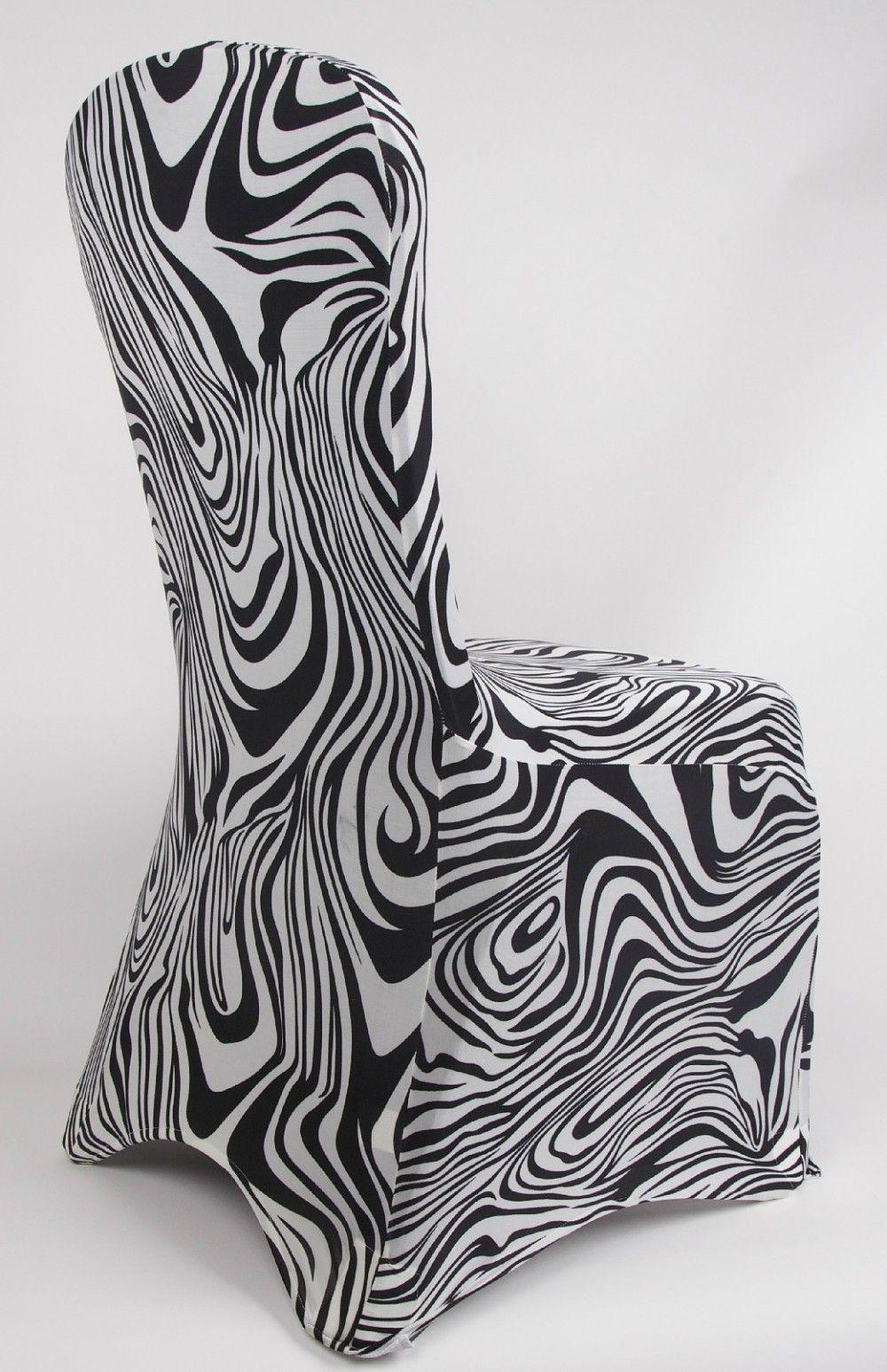 Zebra Print Lycra Chair Covers 1 Animal Print