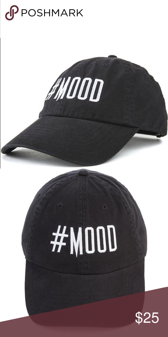 edc3677bcb6 THE  MOOD BLACK WHITE STRAP BACK DAD HAT CAP  PLEASE READ ENTIRE  DESCRIPTION AND