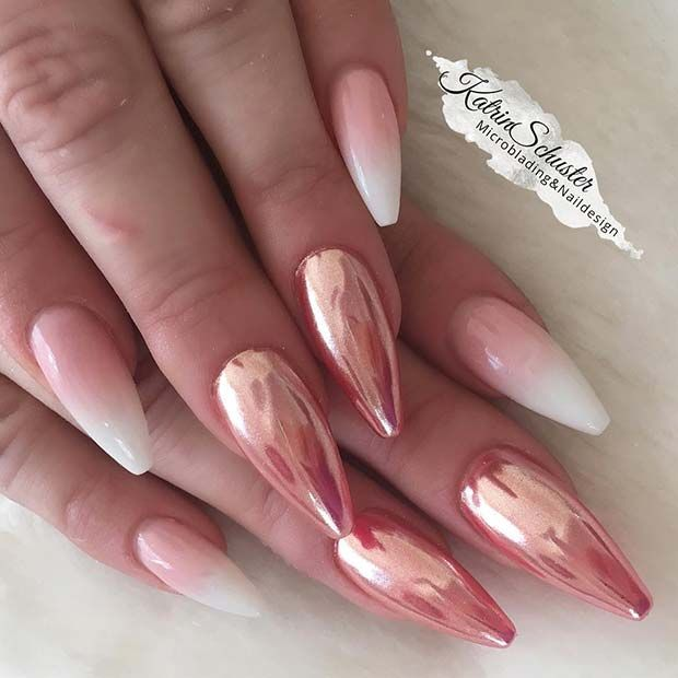 41 of the Most Beautiful French Ombre Nails #chromenails
