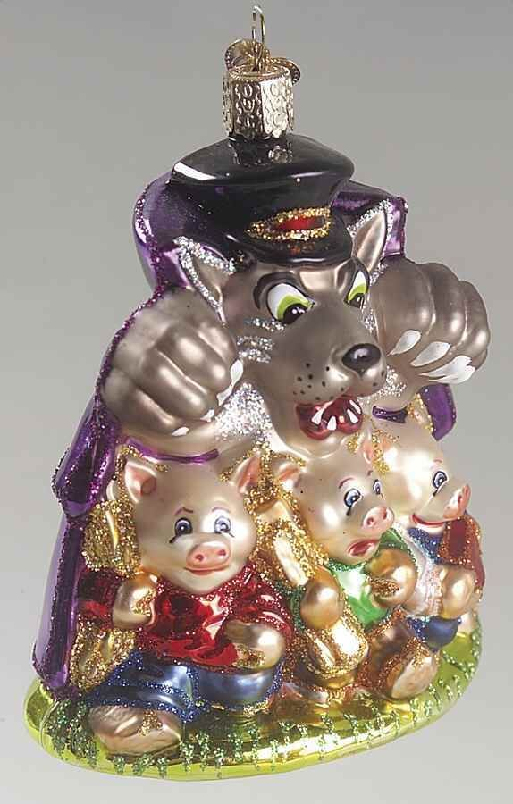 Wolf Ornaments & Keepsake Ornaments | Zazzle |Big Bad Wolf Christmas