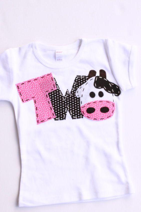 2 Barnyard Birthday Shirt Two Cow 2nd Girl T Barn Yard Farm Theme White On Etsy 2499