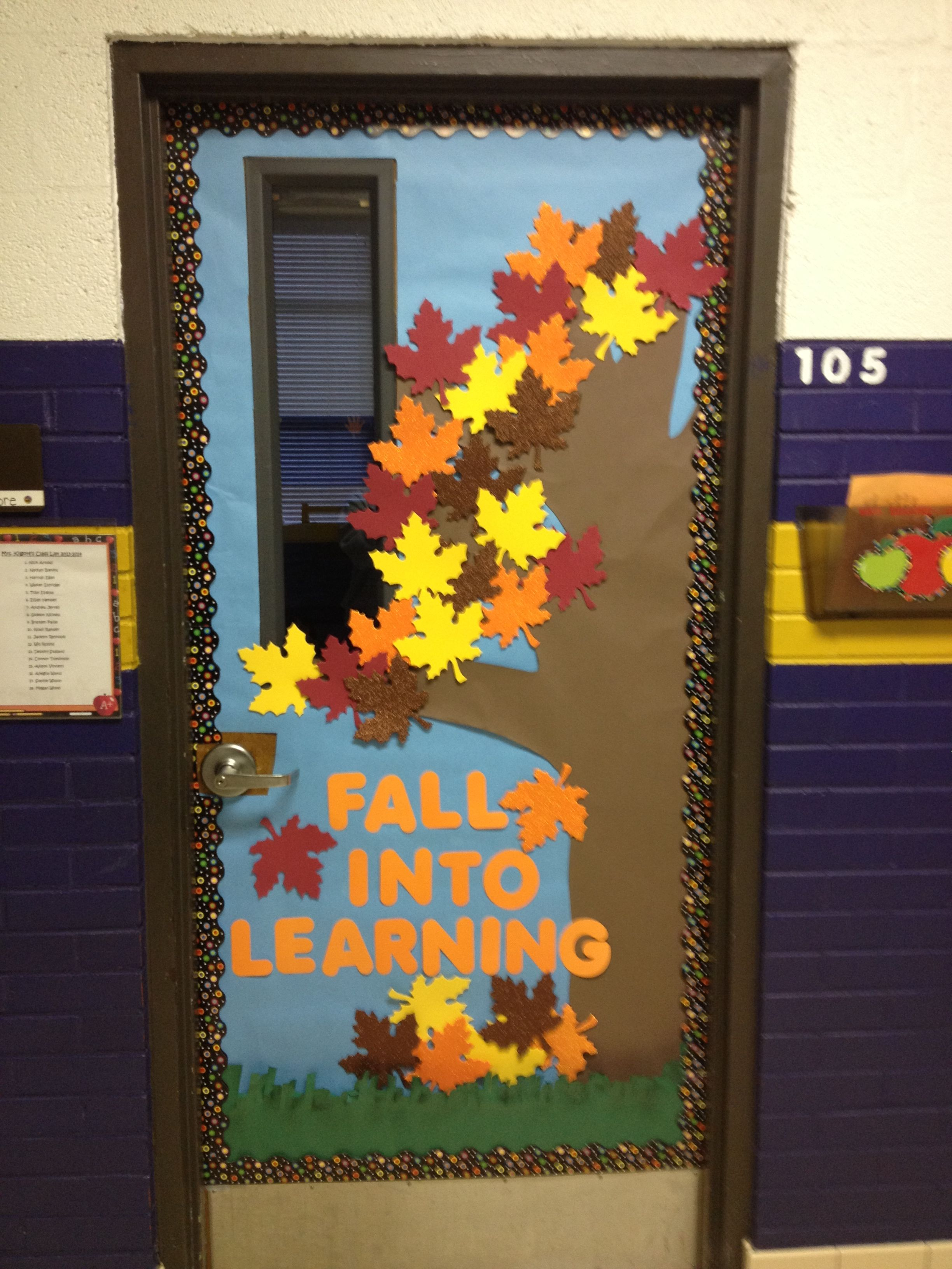 Classroom Decoration Autumn ~ Fall classroom door school pinterest