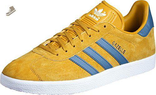 adidas Gazelle Unisex Trainers Yellow Blue Gold - 4 UK - Adidas ...