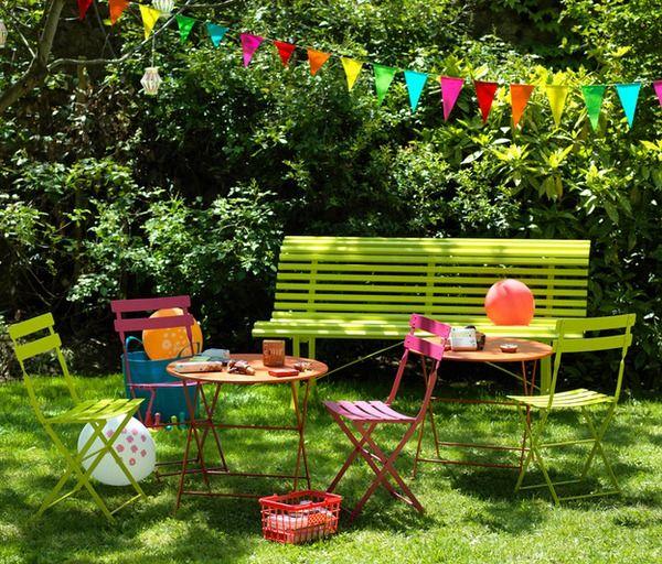 fermob tom pouce colourful light metal garden chair for children - Garden Furniture Colour Ideas