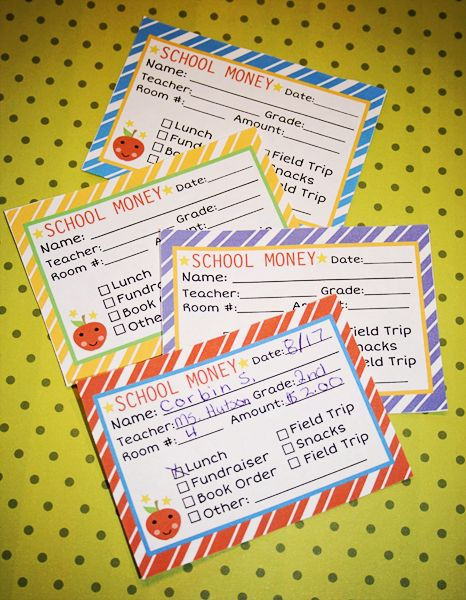 Keep track of your kidsu0027 school money needs You could print this - free money templates