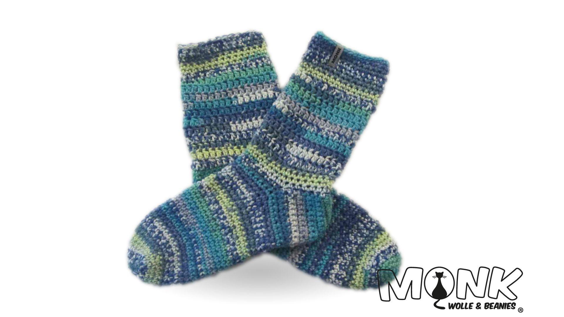 Socken Hüttenschuhe Häkeln Monk Wolle Beanies Häkelanleitung