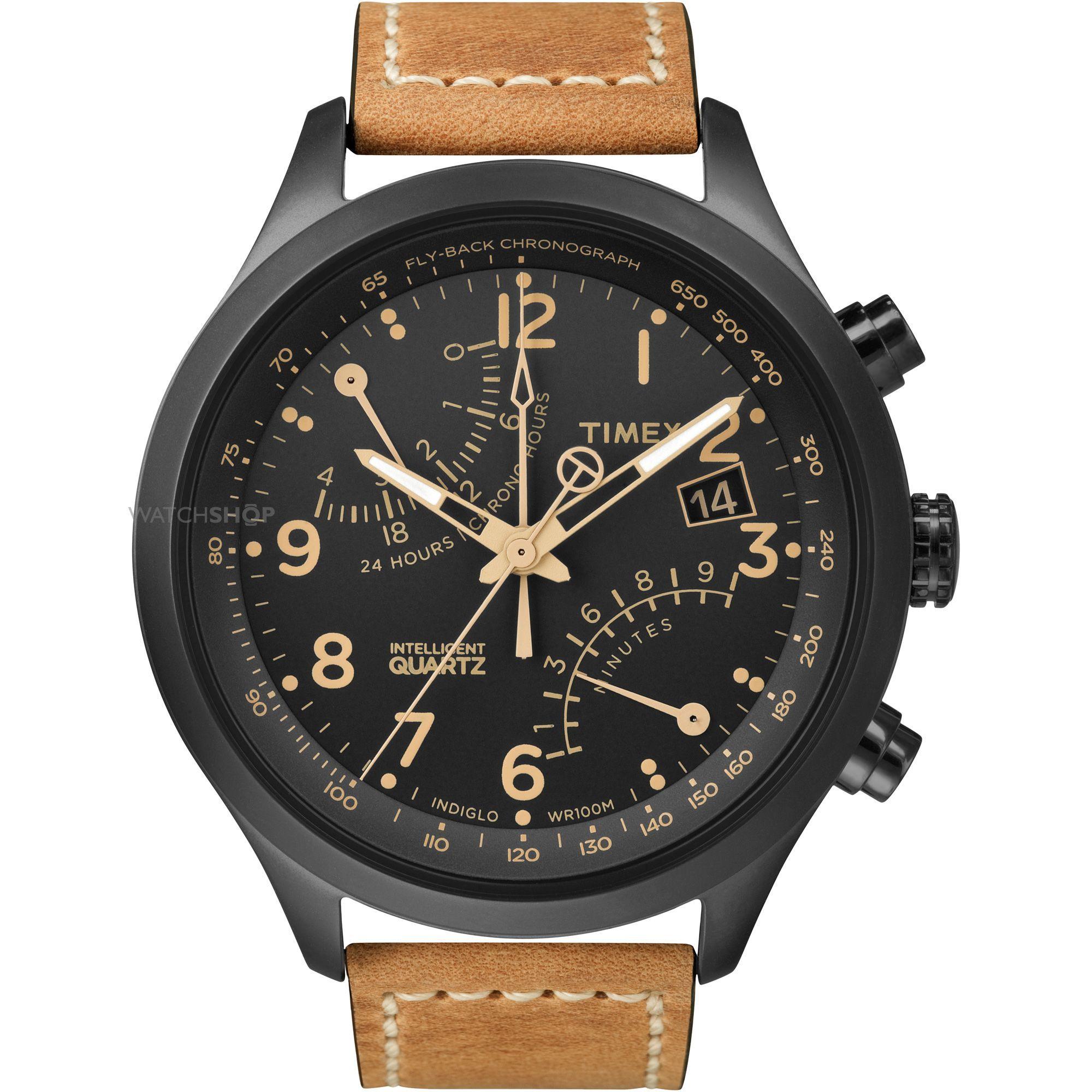 Mens Timex Indiglo Intelligent Quartz Chronograph Watch T2N700