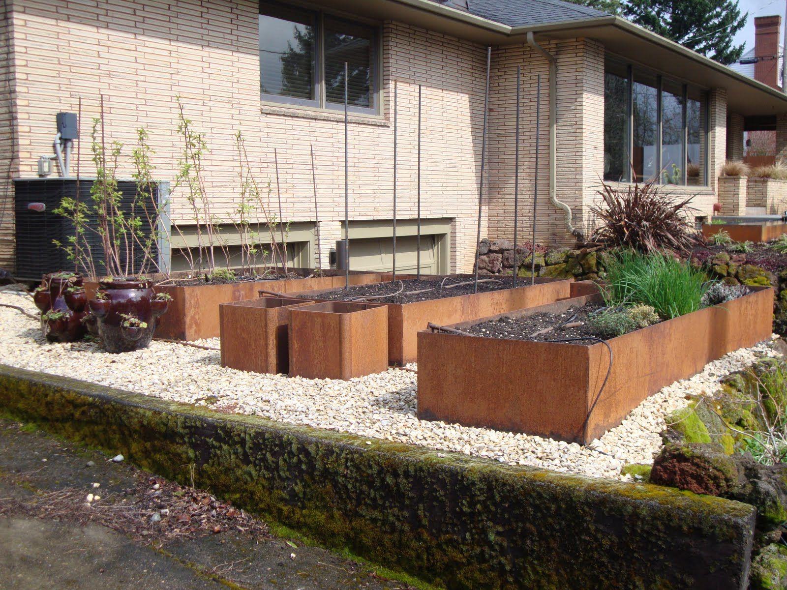 Corten Raised Beds Metal Raised Garden Beds Garden Beds Raised Bed Garden Design